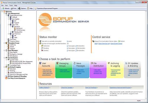 Bopup Communication Server