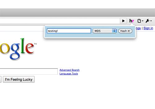 Hashr for Chrome