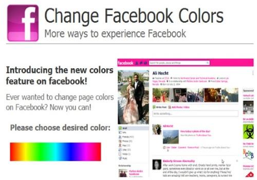 Color my Facebook