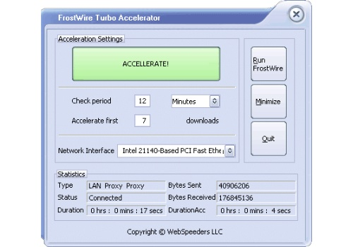 FrostWire Turbo Accelerator