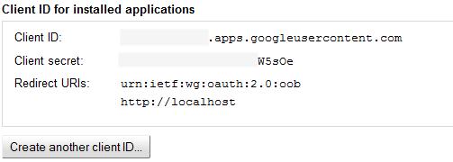 identificatori del Project API