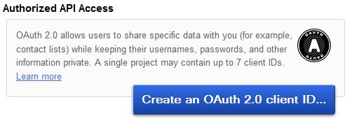 Authorized API Access