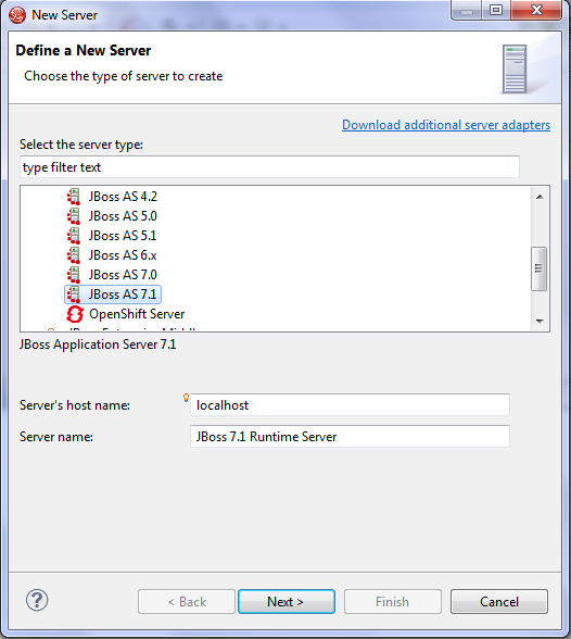 JBoss Development: creazione server