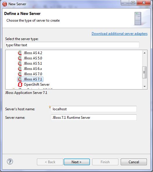 JBoss Development: creazione server