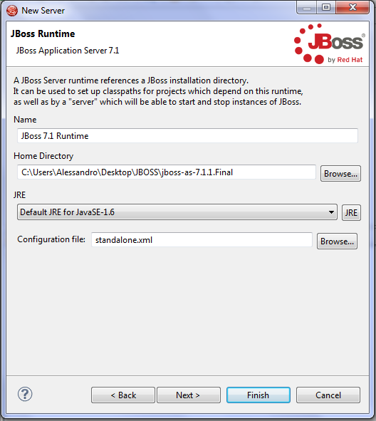 Jboss new server