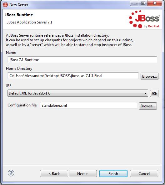 Jboss new server