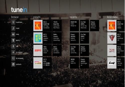 TuneIn Radio  per Windows RT