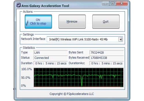 Ares Galaxy Acceleration Tool