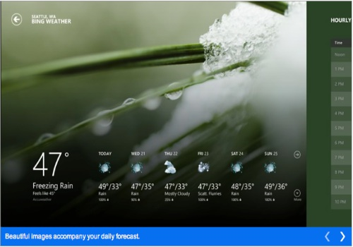 Weather per Windows RT
