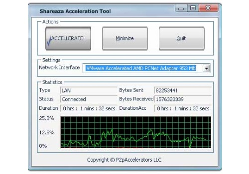 Shareaza Acceleration Tool