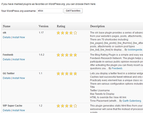 Lista dei plugin preferiti in WordPress 3.5