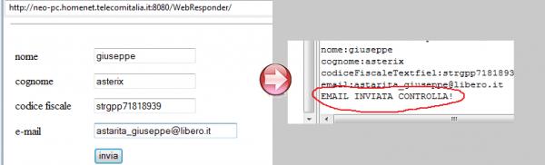 execute del metodo inviaMail()