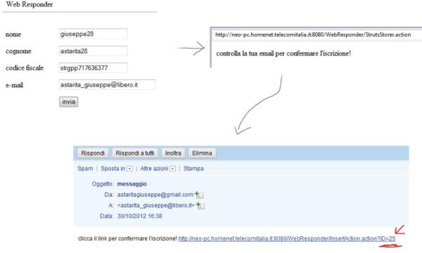 riepilogo dell'output di webResponder