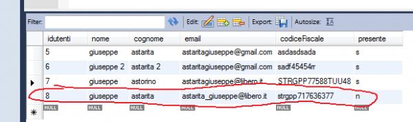 verifica su mysql workbench del re-deploy di webResponder