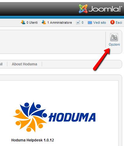 Bottone delle opzioni per Hoduma