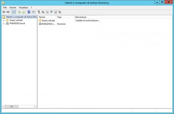Finestra Utenti e computer di Active Directory