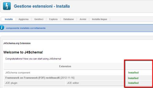 J4Schema installato