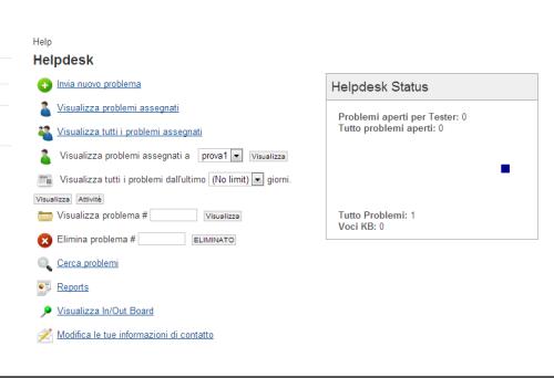 Figura 4. Status della piattaforma di helpdesk