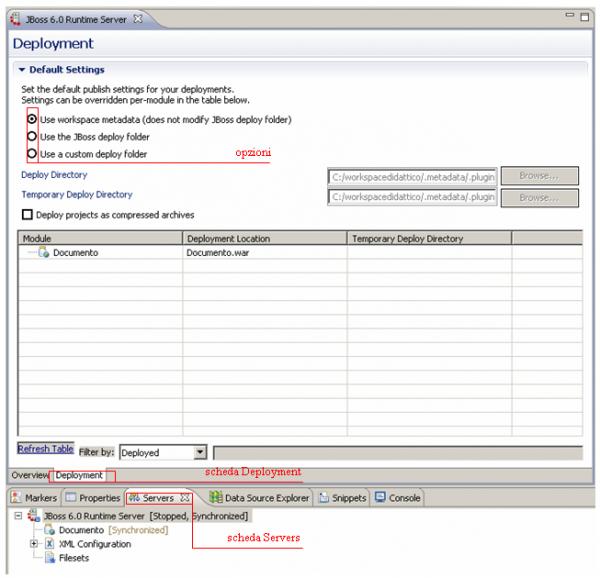 esempio didattico: JBoss deployment