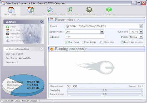 Free Easy CD DVD Burner