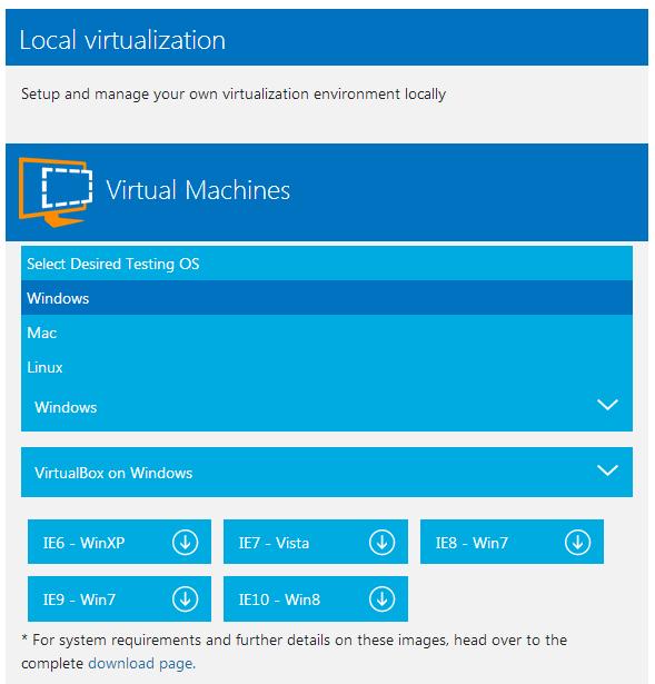 Virutualizzazione locale su diversi sistemi operativi