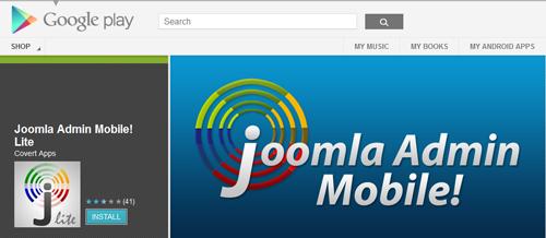 Joomla Admin Mobile in Google Play