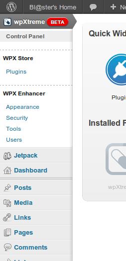 Sidebar di wpXtreme