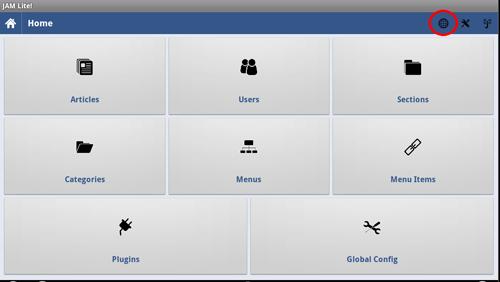 Applicazione di Joomla Admin Mobile per Android