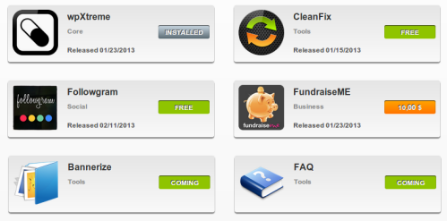 Applicazioni nell'app store di wpXtreme