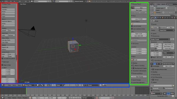 I pannelli della 3D View