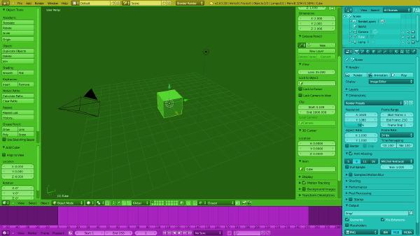 Interfaccia Blender