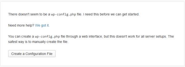 Installazione di WordPress