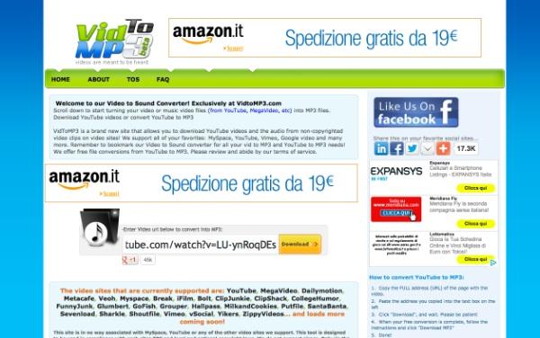 Interfaccia VidToMP3