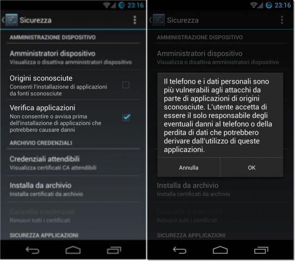 Controllo Applicazioni Android