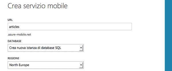 Creare un servizio mobile