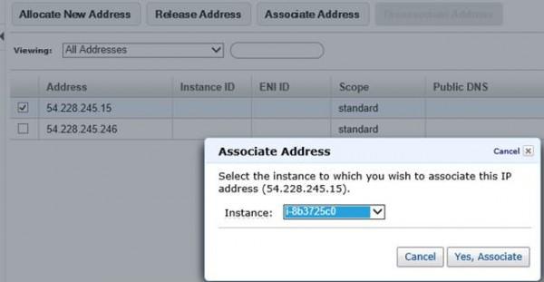 Associazione di un indirizzo IP on-demand ad una istanza