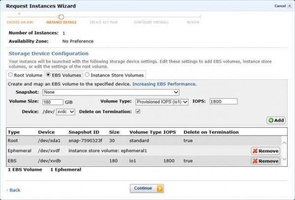 Personalizzazione dei dischi EBS e Istance-store durante le creazione di una macchina