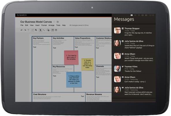 Il menu a discesa di Ubuntu consente di tenere sotto controllo l'intero sistema (fonte: ubuntu.com)