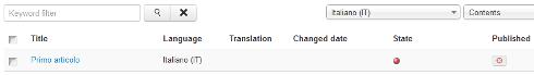 Controllo delle traduzioni in Joomla