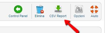 Esportazione del CSV