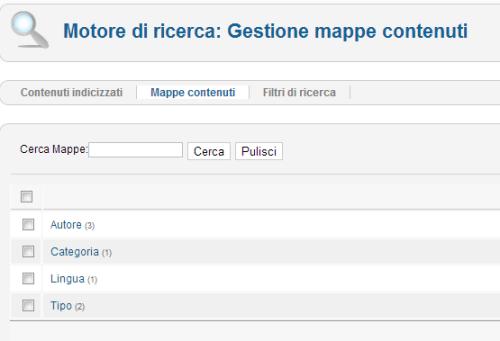 Mappe dei contenuti in Joomla