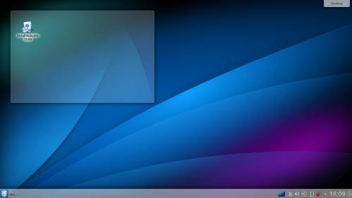 Il desktop di Kubuntu 13.04