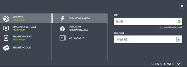 Creazione rapida di un sito Web con Portal