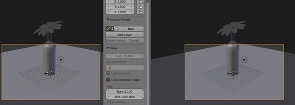 Split 3D View