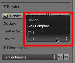 Render CPU e GPU
