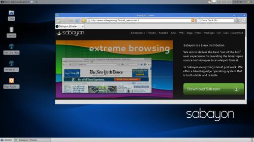 Sabayon 13.04: il desktop