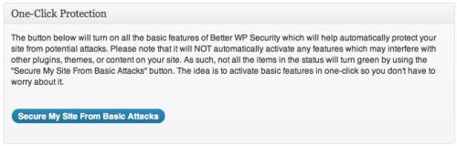One-Click Protection, protezione rapida per la nostra installazione di WordPress