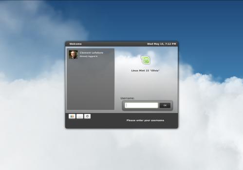 MDM su Linux Mint 15, con un tema in HTML5 (fonte: www.linuxmint.com)