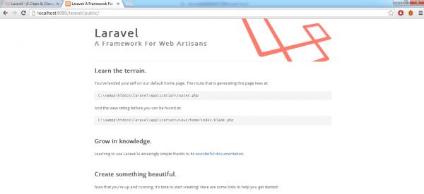 Homepage Laravel