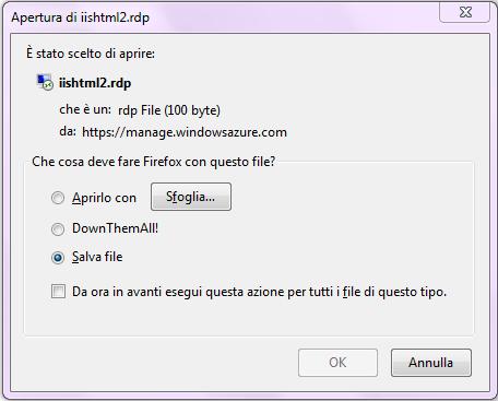 Download del file per l'accesso remoto